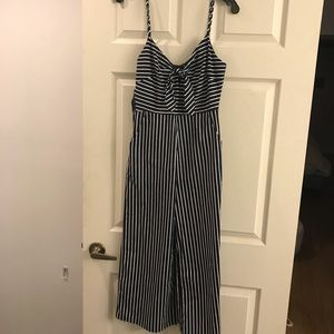NWOT Navy stripe jumpsuit
